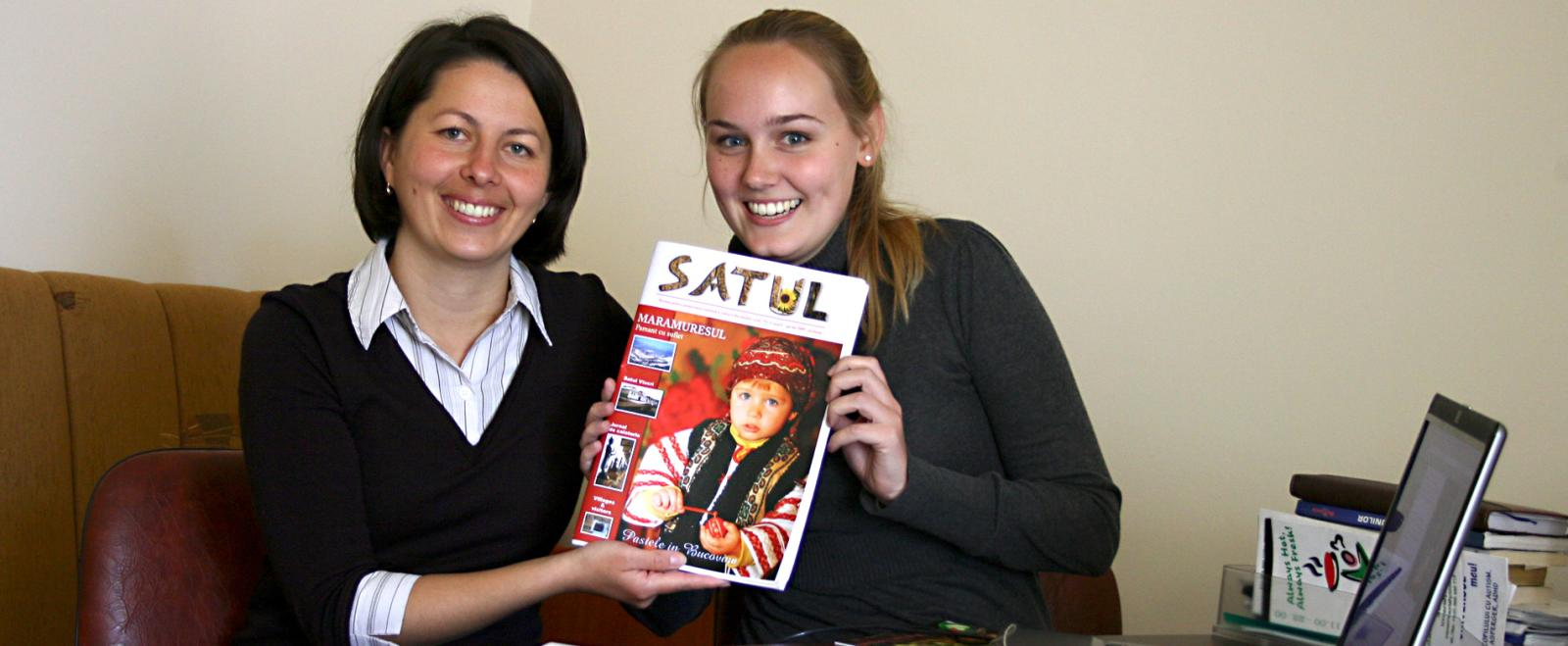 A Journalism intern contributes work to a local magazine in Romania during her summer break in high school.